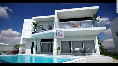 New 3-bedroom villa with sea view and pool